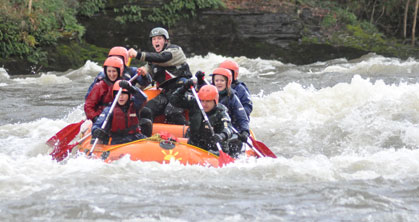 rafting on the wye