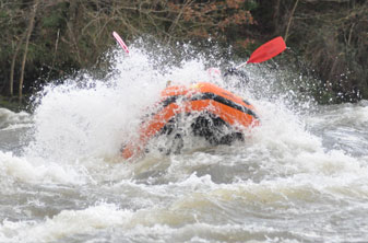rafting on the river wye